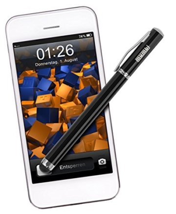 Mumbi® Stylus Pen - Eingabestift + Kugelschreiber für iPad, iPhone, iPod, Galaxy Tab, Galaxy S2 S3 etc. + EXTRA Ersatzmine -