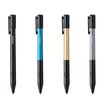 Wacom Bamboo Stylus Fineline 2 Präzisions-Eingabestift (1,9mm dünner Spitze für iPad mini, iPad 3, iPad Air und neuere Geräte) schwarz -