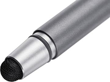 Wacom CS-170 Bamboo Stylus Duo 3. Generation, Touchscreen-Eingabestift für iPad, iPhone, Android Tablets, Smartphones mit austauschbarer Pen Carbonspitze und Kugelschreiber, grau -