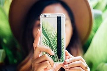Adonit Snap Stylus mit feiner Spitze und eingebautem Foto-Auslöser - schwarz [iOS & Android | 1.9mm dünne Spitze   Integrierter Akku] - ADSPB -