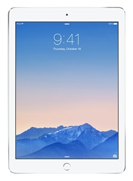 Apple iPad Air 2 MNV62FD/A 24,64 cm (9,7 Zoll) Retina Display Tablet (32 GB, Wi-Fi, iOS 9) silber -
