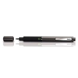 Hama Präzision Eingabestift Active Stylus Fineline (dünne Spitze 2mm, geeignet für Tablets und Smartphones, Batterie unterstützt) kapazitiver Pen anthrazit -