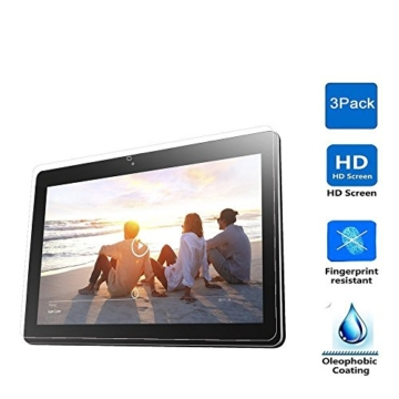 IVSO® 3 x Crystalclear Displayschutzfolie für Lenovo Miix 310 25,65 cm (10,1 Zoll HD) Tablet PC Schutzfolie, Crystal Clear -