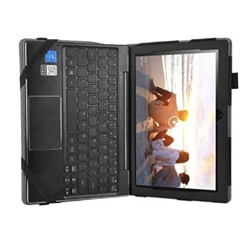 IVSO hochwertiges PU Leder Etui hülle Tasche Case - mit Standfunktion,super 360° Anti-Wrestling, ist für Lenovo Miix 310 25,65 cm (10,1 Zoll HD) Tablet PC perfekt geeignet, Schwarz -