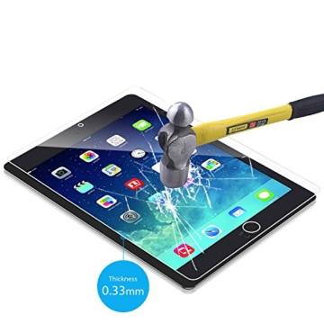 JETech iPad Air 1/2, iPad Pro 9.7 Gehärtetem Glas Panzersglas Premium Folien Schutzfolie Displayschutz Screen Protector -