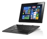 Lenovo Miix 310 25,65 cm (10,1 Zoll HD) Tablet PC (Intel Atom x5-Z8350 Quad-Core Prozessor, 4GB RAM, 64GB eMMC, Intel HD Grafik, Touchscreen, LTE, Windows 10) silber inkl. AccuType Tastatur -